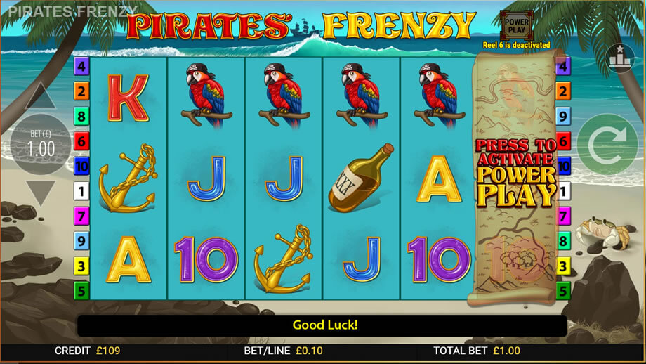 Pirates Frenzy Casino Slot Online Bonuses