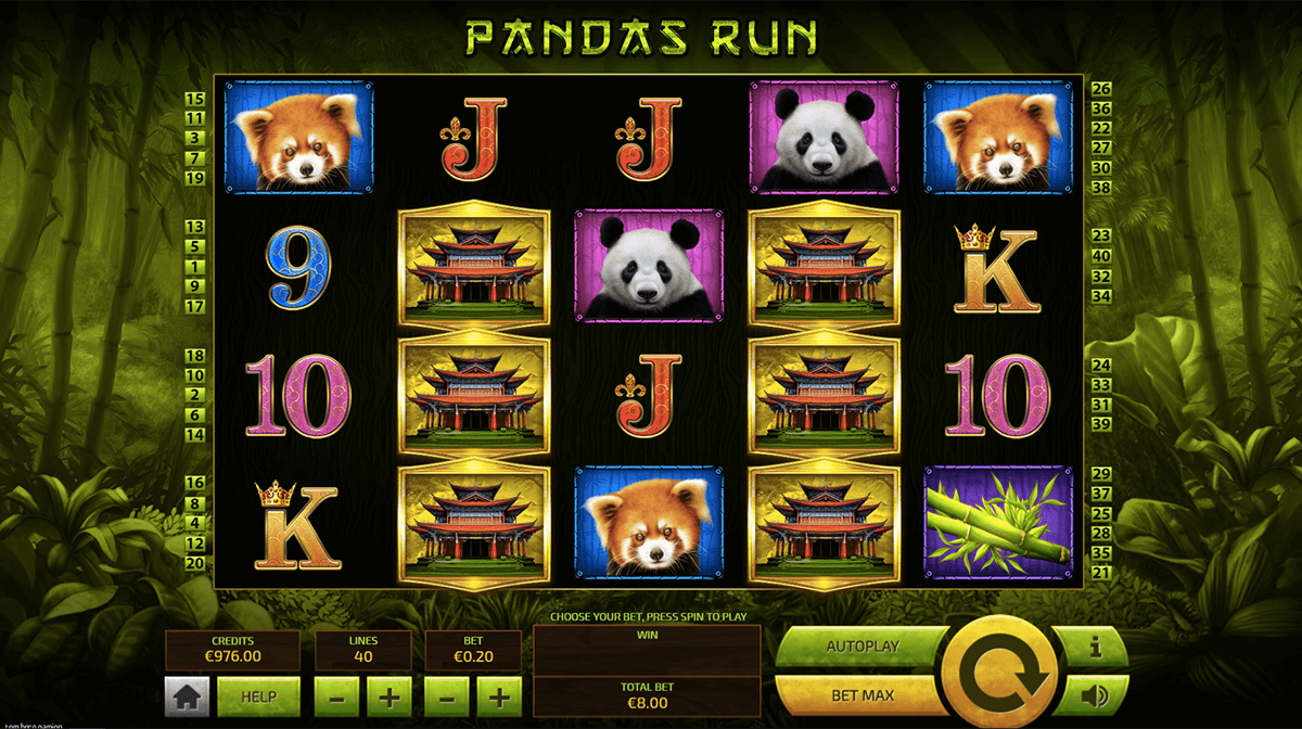 Pandas Run online slot gameplay